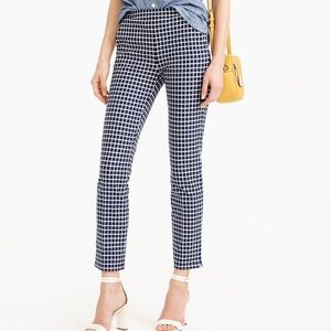 JCrew Martie pant in windowpane size 000